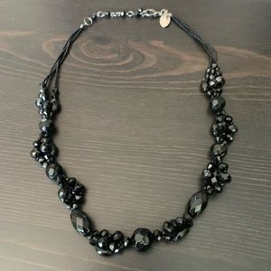 WHBM Black Beaded Necklace